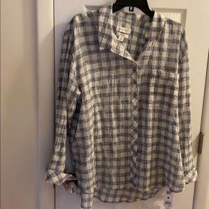 Treasure and bond plaid shirt
